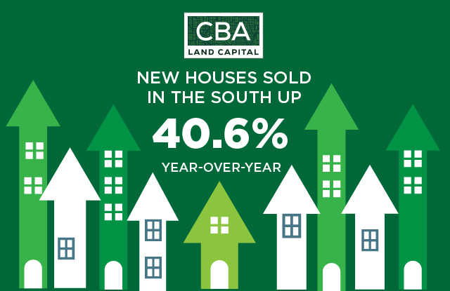 New Home Sales Are Up 40.6% in the South