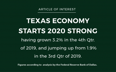 A TEXAS STRONG ECONOMY KICKS OFF 2020