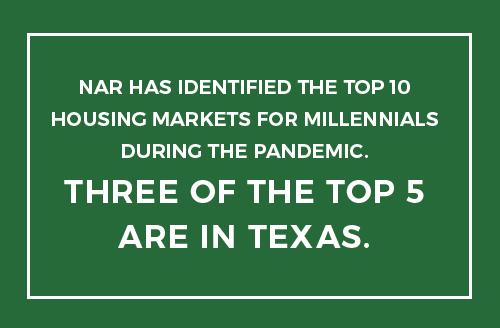 Texas Markets Rank In Top 10 for Millennial HomeBuyers