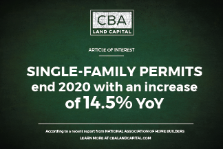 Single-Family Home Permits Increase in 2020.